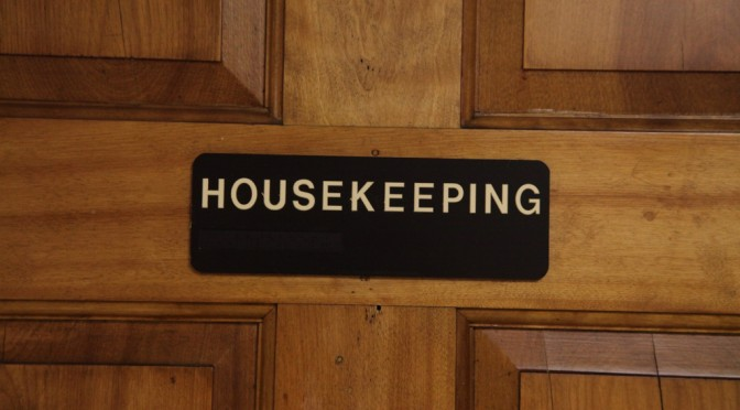 A Few Housekeeping Notes